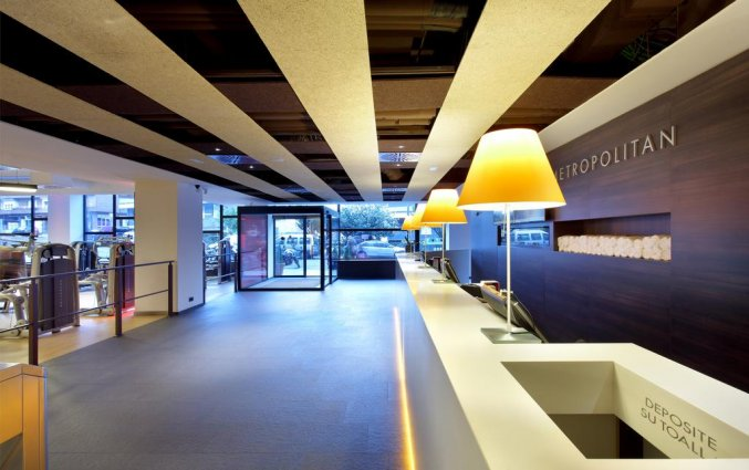 Lobby en receptie van Hotel Occidental in Bilbao