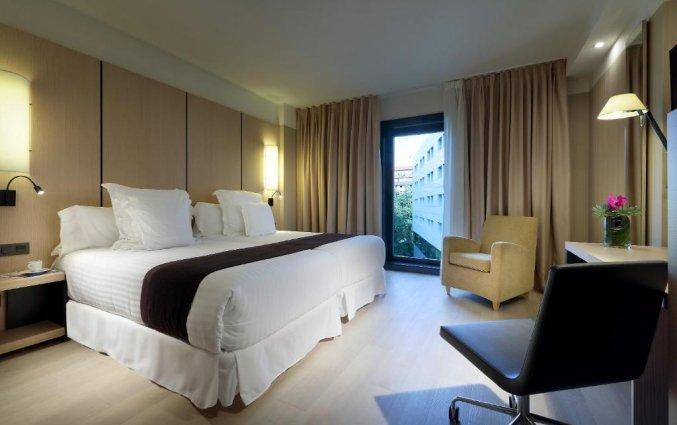 Tweepersoonskamer van Hotel Occidental in Bilbao