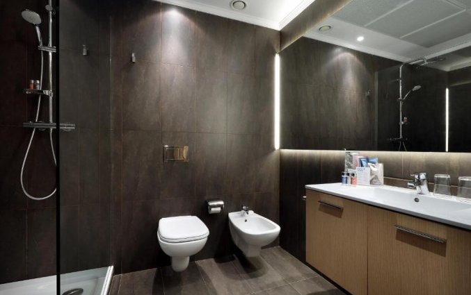 Badkamer in een kamer van Hotel Occidental in Bilbao