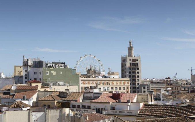 Uitzicht op Malaga vanaf hotel Petit Palace Plaza Malaga