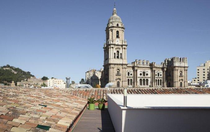 Uitzicht vanaf het dakterras van hotel Petit Palace Plaza Malaga