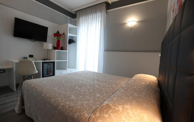 Tweepersoonskamer van hotel Italia Verona