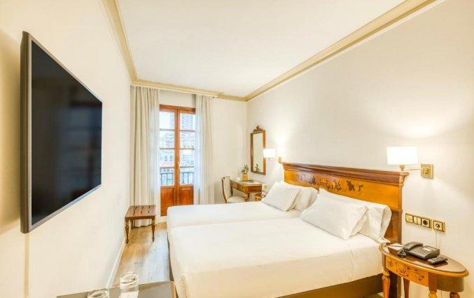 Tweepersoonskamer van Hotel Sercotel Arenal in Bilbao