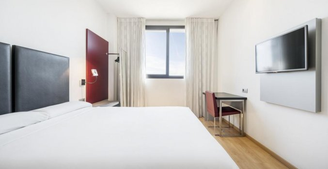 Tweepersoonskamer van Hotel Ilunion Aqua 3 in Valencia