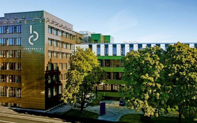 Vooraanzicht van hotel Centennial Tallinn