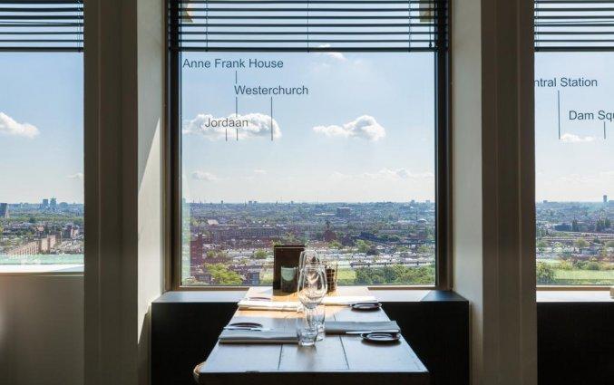 Uitzicht vanaf het restaurant van Leonardo Hotel Amsterdam Rembrandtpark