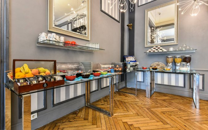 Ontbijtzaal van hotel Aria Nice