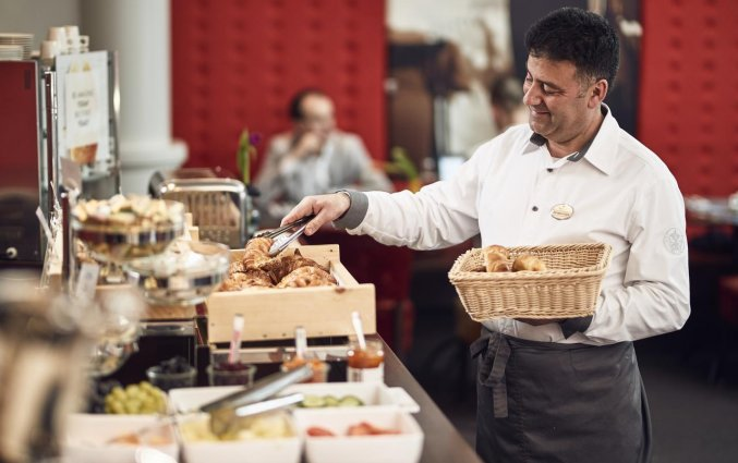 Ontbijtbuffet in het WestCord City Centre Hotel Amsterdam