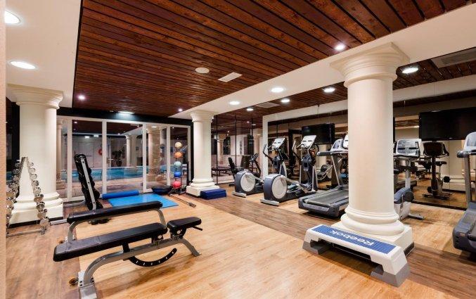 Fitnessruimte van Hotel DoubleTree by Hilton Royal Parc Soestduinen op de Utrechtse Heuvelrug