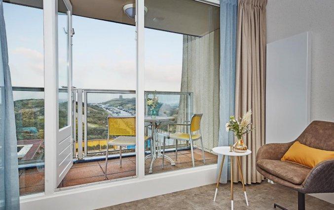 Uitzicht vanaf een kamer van Carlton Beach Scheveningen aan de Nederlandse Kust