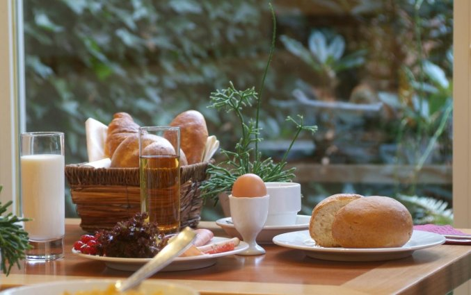 Ontbijt van Hotel Castelnou Aparthotel Gent