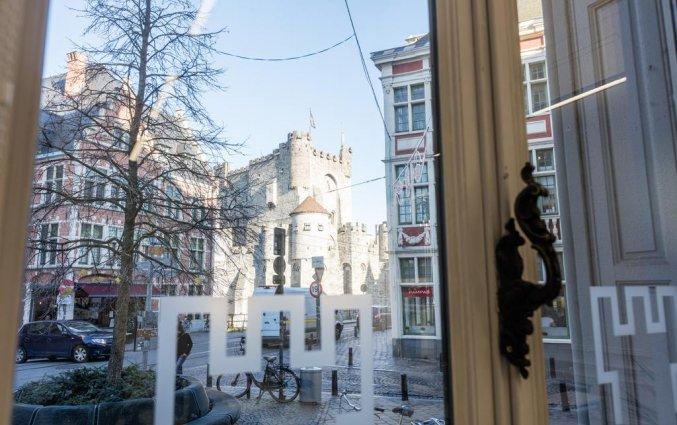 Uitzicht vanuit Hotel Gravensteen Gent