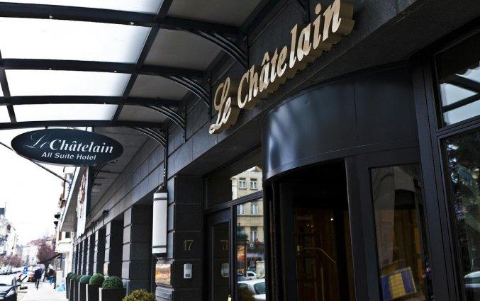 Entree van Hotel Le Chatelain Brussel