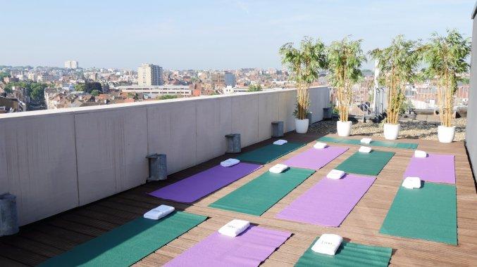 Yogalessen bij Hotel Le Chatelain Brussel