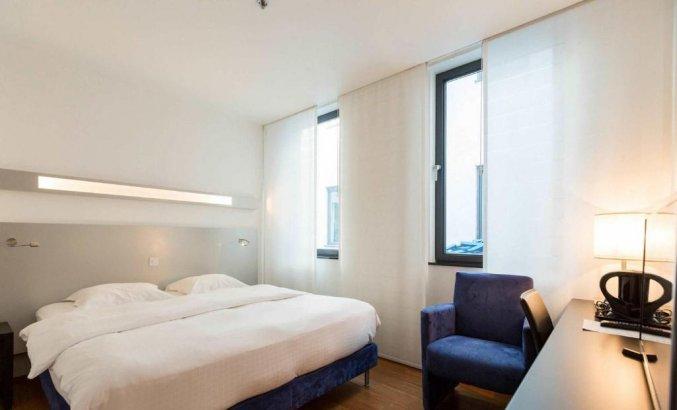 Tweepersoonskamer van Aqua Hotel Brussel in Brussel