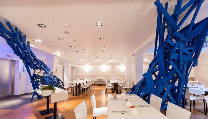 Ontbijtzaal van Aqua Hotel Brussel in Brussel