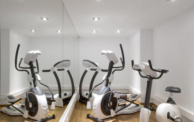 Fitnessruimte van Aqua Hotel Brussel in Brussel
