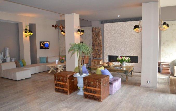 Zitgedeelte in Hotel Floris in Brugge