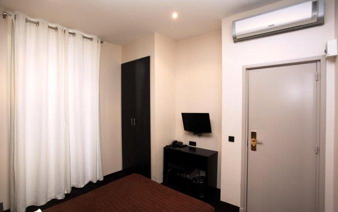 Tweepersoonskamer van hotel Trocadero Nice