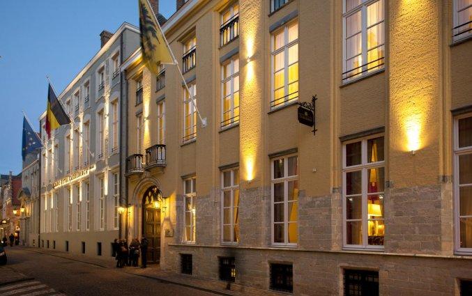 buitenaanzicht van Grand Hotel Casselbergh in Brugge