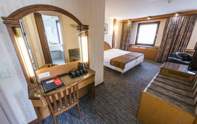 Tweepersoonskamer van Hotel Bero aan de Belgische Kust