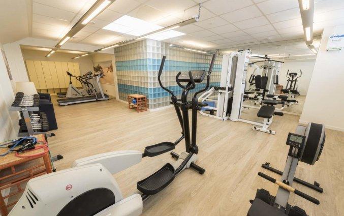 Fitnessruimte van Hotel Bero aan de Belgische Kust