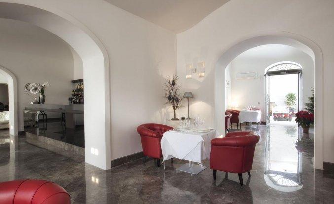 Eetzaal van Hotel Palazzo Brunaccini op Sicilië