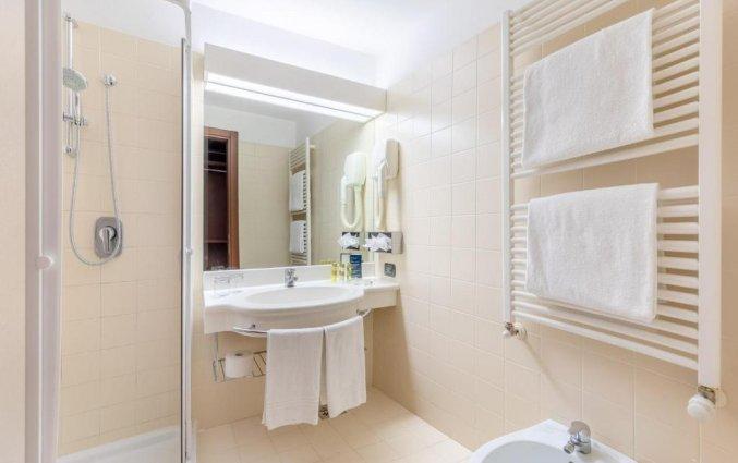 Badkamer van een tweepersoonskamer van Hotel Eurostars Residenza Cannaregio in Venetie