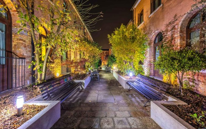 Tuin van Hotel Eurostars Residenza Cannaregio in Venetie