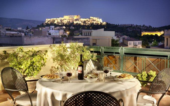 Dakterras van Hotel Jason Inn in Athene