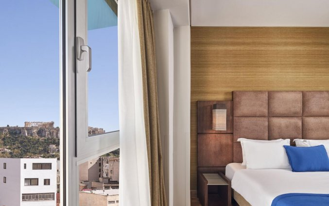 Tweepersoonskamer met uitzicht op Akroplis van Hotel Arion Athens in Athene