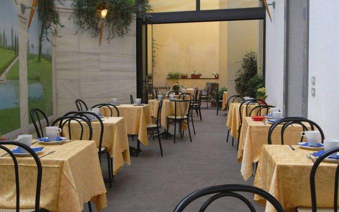 Terras van Eurohotel in Milaan
