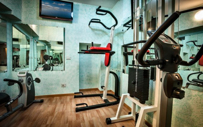 Fitnessruimte van Eurohotel in Milaan