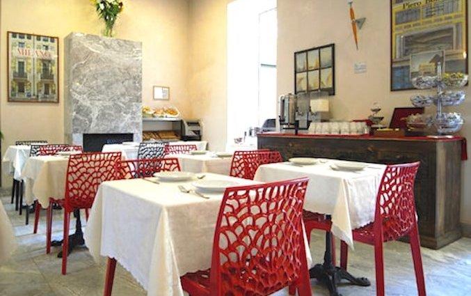 Ontbijtzaal van Eurohotel in Milaan