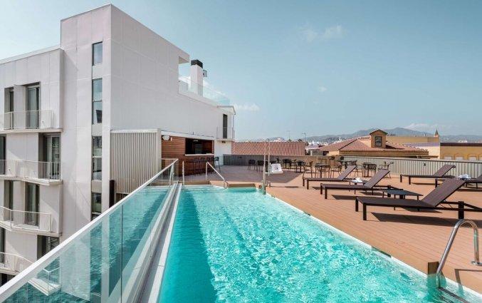 Dakterras met buitenzwembad van Hotel NH Malaga in Malaga