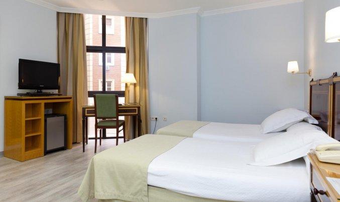 Tweepersoonskamer van Hotel Don Curro in Malaga