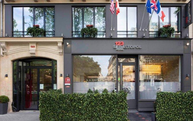 Gebouw van hotel Le 123 Sebastopol - Astotel in Parijs