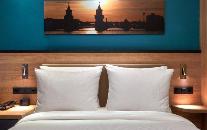 Tweepersoonskamer van Hotel Hampton Inn Berlin City Centre Alexanderplatz in Berlijn