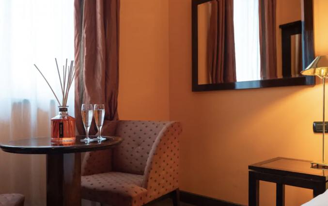 Slaapkamer in hotel San Gallo Palace