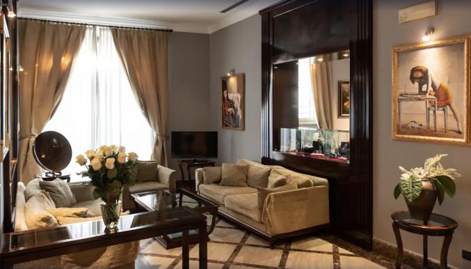 Lounge in hotel San Gallo Palace