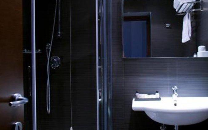 Badkamer van een tweepersoonskamer van C-Hotels Club in Florence