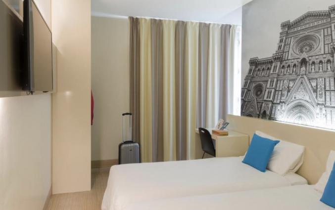 Slaapkamer in hotel B&B Firenze City Center