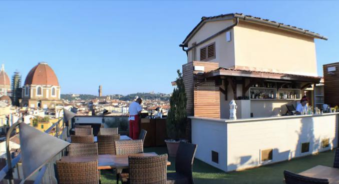 Dakterras op Hotel Machiavelli Palace