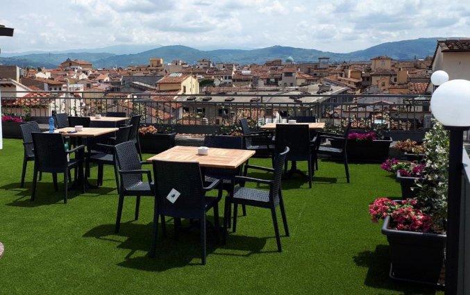Dakterras bij hotel Cantoria Florence