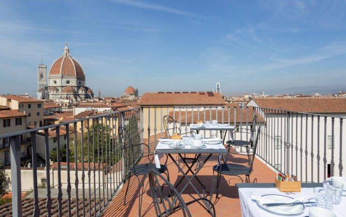 Dakterras van Hotel Palazzo Graziani in Florence