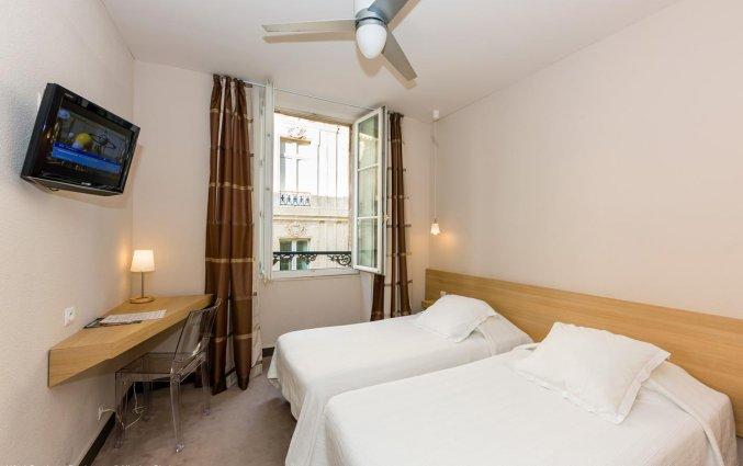 Tweepersoonskamer van Hotel Gambetta in Bordeaux