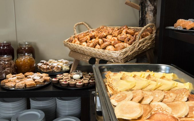 Ontbijtbuffet van het uHotel in Ljubljana