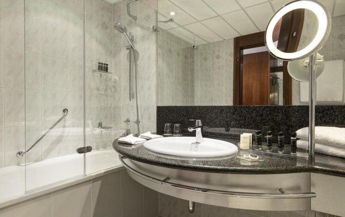 Badkamer van het uHotel in Ljubljana