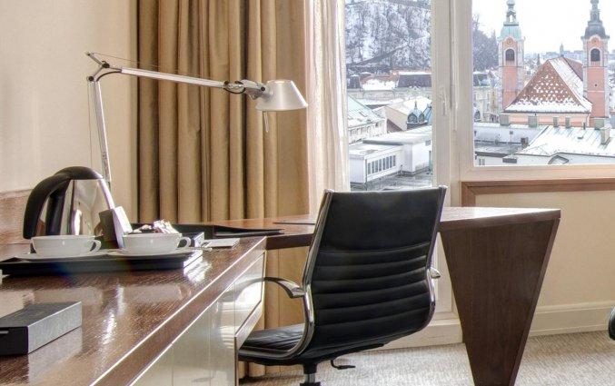 Tweepersoonskamer van het uHotel in Ljubljana