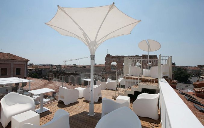 Dakterras van Hotel Milano & SPA in Verona